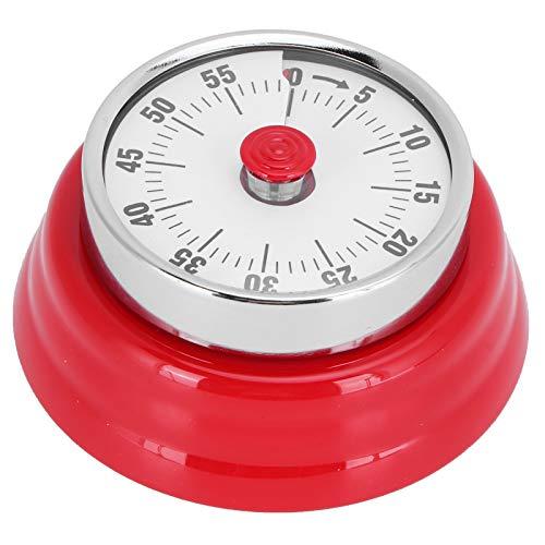 WEILafudong Temporizador de cocina portátil, temporizador magnético de cocina, alarma mecánica manual, recordatorio de cuenta regresiva para la gestión del tiempo (rojo)