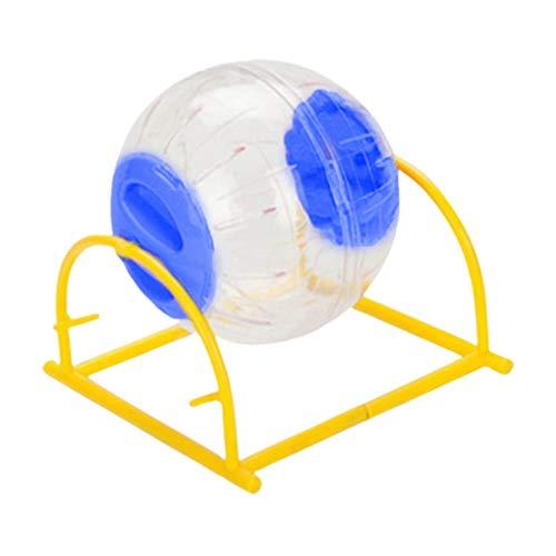 Balacoo Hamsterball mit Ständer - Rennmausball Rattenbälle Hamster-Übungsball-Hamster-Laufball für Igel Syrer Maus Mäuse Syrerhamster 5-zufällige Farbe