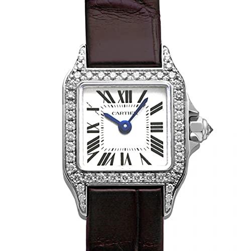 カルティエ Cartier サントス ミニサントス ドゥ モワゼル WF902005 ホワイト文字盤 中古 腕時計 レディース (W204760) [並行輸入品]