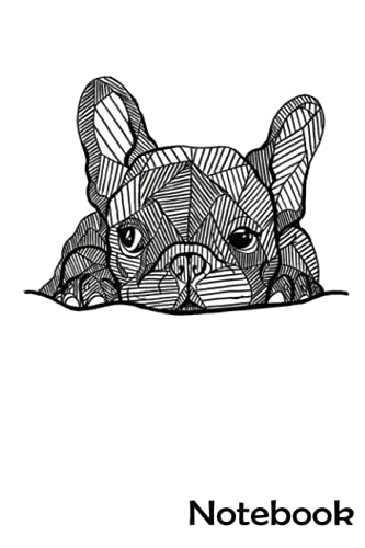 French Bulldog Puppy Notebook: - 110 Pages, In Lines, 6 x 9 Inches