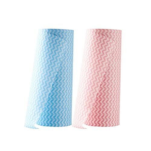 WXIANG Durable Roll Paper Scouring Pad Cocina Papel Toallas Aceite y Agua Toallitas absorbentes Toallitas Desechables para Lavar Platos Paño Trapos Cocina (Quantity : 2)
