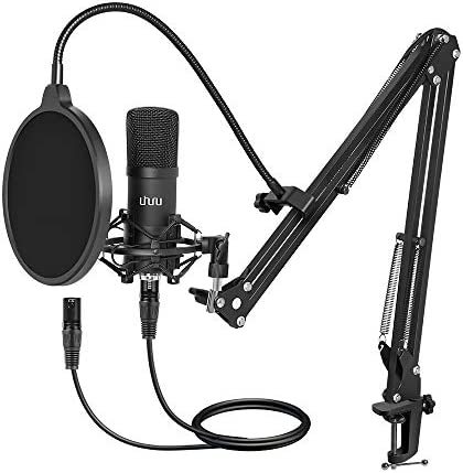 XLR Condenser Microphone UHURU Professional Studio Cardioid Microphone Kit with Boom Arm Shock product image