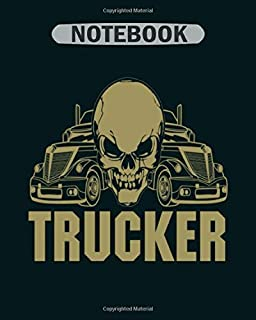 Notebook: trucker moustache trucker symbol trucker drive b - 50 sheets, 100 pages - 8 x 10 inches