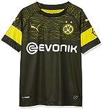 PUMA Kinder Trikot BVB Away Shirt Replica Jr with Evonik Logo with OPEL Logo, Puma Black, 128, 753319