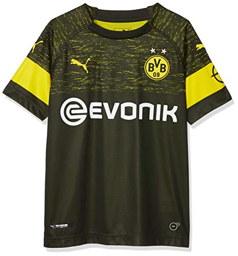 PUMA Kinder BVB Away Shirt Replica Jr Evonik with OPEL Logo Trikot, Black, 164