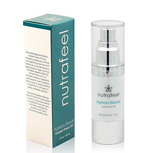 Ageless Beauty Instant Face Lift | Hyaluronic Acid | Acai Extract | Argireline | Matrixyl 3000 - Drastically Reduces Eye Bags, Wrinkles, Lines & Puffiness | Tighten Skin Instantly - Great Value (30mL)