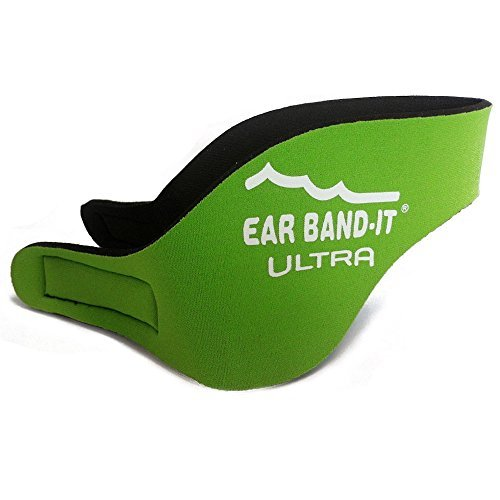 EarBandIt Ear Bandit Ultra Swimmers Headband (Neon Green, Large) by