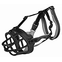 secure due to threefold fastening. continuously adjustable forehead strap and neck strap as well as nape loop, with reflective stripes. Particularly comfortable to wear due to ergonomic fit, flexible silicone that is stable in shape and neoprene-padd...