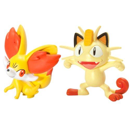 Tomy - T18064 - Pokemon twin pack : Feunnec vs Miaouss