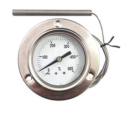 REDPOINT - Termómetro de acero inoxidable para hornos de pizza, barbacoas, hornos...