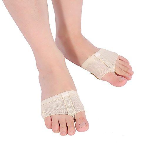 Delaman Ballenschutz Ballenschutz Tanzen Fuß Unterstützung für Ballett Bauchtanz Tanz Zehenschutz EIN Paar (Size : M)