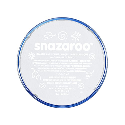 Snazaroo- Pintura facial y Corporal, 18 ml, Color blanco, 18ml (Colart 1118000)