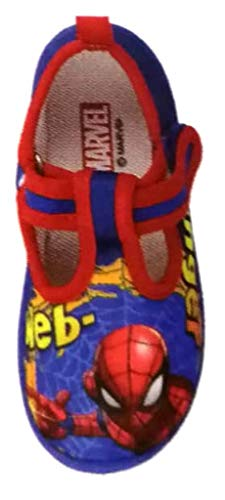 de fonseca Spider-Man Scarpette,Ciabatte da Bimbo MOD. Pescara K570 Blu Reale (21 EU)