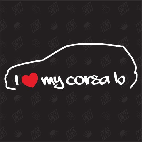 I Love My Opel Corsa B ? Stickers, Bj 93?00