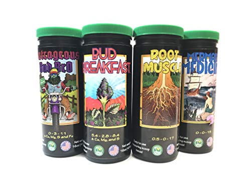 Good Stuff Grow 4 Pack   Complete Set of Organic Cannabis Nutrients for All Growth Stages