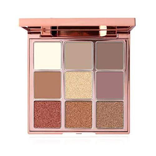KINTRADE 1Box Paleta de Sombras de Ojos Brillo Mate 9 Colores Textura cremosa Altamente pigmentada Sombras de Ojos Mujeres Kit de Herramientas de Maquillaje cosmético