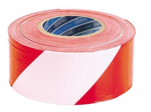 Draper, Nastro segnaletico bianco/rosso, 72 mm x 500 m - 0