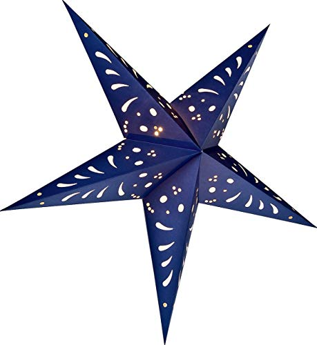 Luna Bazaar Paper Star Lantern (24-Inch, Navy Blue) - For Home Decor, Parties, and Holiday Decorations