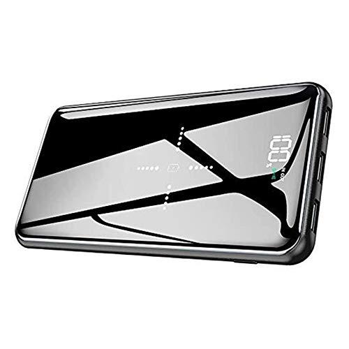 【最新型】モバイルバッテリー qi 25000mAh 大容量 ワイヤレス充電器 LCD残量表示 鏡仕上げデザイン 急速充...
