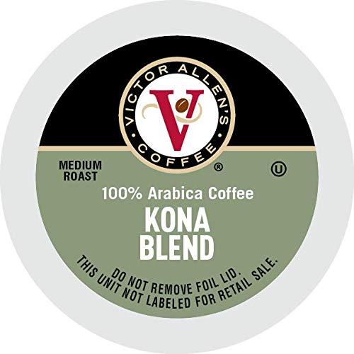 Victor Allen's Coffee K Cups, Kona Blend Single Serve Medium Roast Coffee, 80 Count, Keurig 2.0 Brewer Compatible