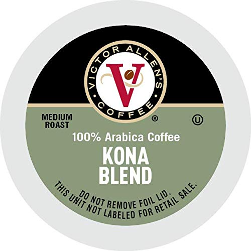 Victor Allen's Coffee K Cups, Kona Blend Single Serve Medium Roast Coffee, 80 Count, Keurig 2.0 Brewer Compatible