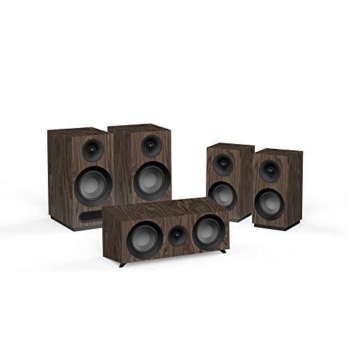 Jamo S 803 HCS 5.0Kanäle Walnuss Lautsprecherset - Lautsprechersets (5.0 Kanäle, Heimkino, Walnuss, AC)