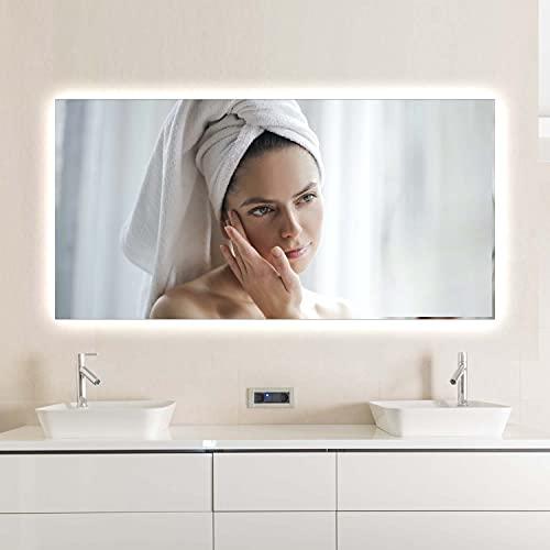 Ecowelle Infrarotheizung Spiegelheizung | 320W bis 720W | mit Ein-/Ausschalter |mit LED|120x60cm | Spiegel Heizung Infrarot Wandheizung Heizplatte Heizpaneel