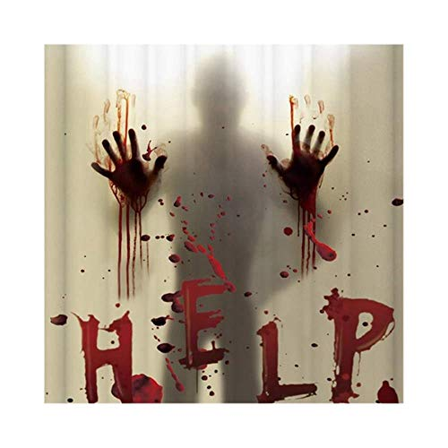 Ramells Halloween douchegordijn Liner venster gordijnen Horror bloedige handen badkamer douchegordijnen