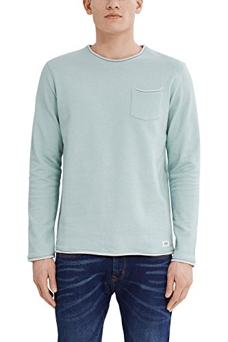 edc by ESPRIT Herren 037CC2J006 Sweatshirt, Grün (Dusty Green 335), Large