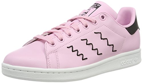 adidas Stan Smith, Baskets Mode Femme, Rose (Wonder Pink/Wonder Pink/Core Black), 37 1/3 EU