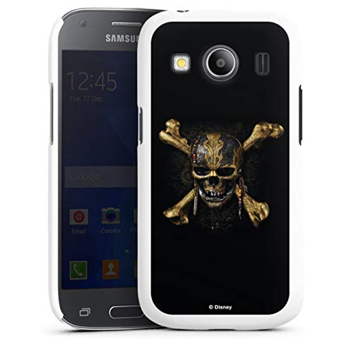 DeinDesign Hard Hülle kompatibel mit Samsung Galaxy Ace 4 Schutzhülle weiß Smartphone Backcover Fluch der Karibik Totenkopf Offizielles Lizenzprodukt