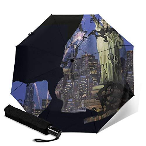 Estatua Libertad Nueva York Paraguas Plegable Paraguas