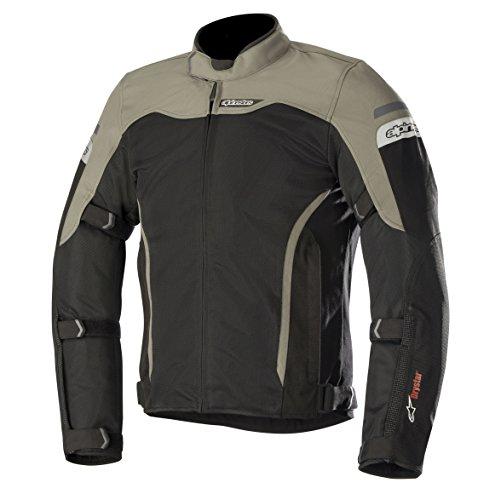 Alpinestars Men's Leonis Drystar Air Motorcycle Jacket, Black/Military Green, X-Large