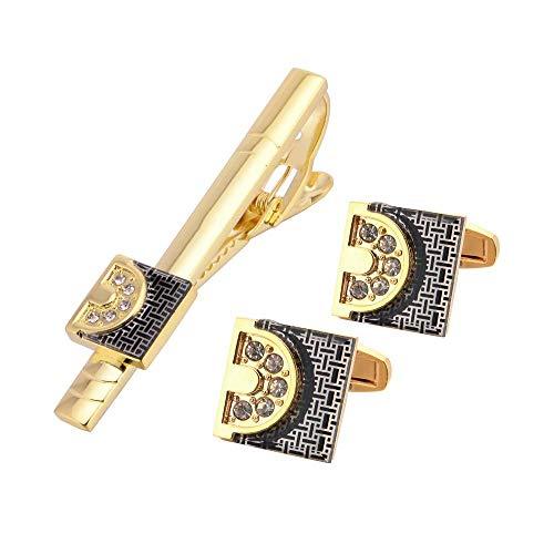 Europäische und amerikanische Gold Anzug Manschettenknopf Krawattenklammer Exquisite dreiteilige Ärmel Nagel Kragen Clip hochwertige Kleider Manschette Clip