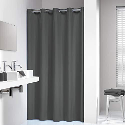 Sealskin Textil Duschvorhang Coloris, Farbe: Grau, B x H: 180 x 200 cm