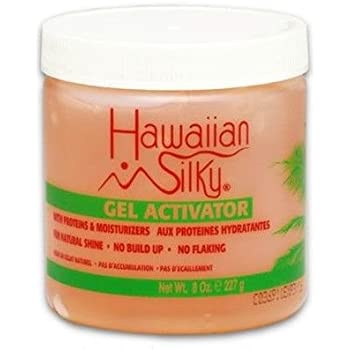 Hawaiian Silky Texturizing Dry Curl Gel 16 oz Flake-Free Hold - Conditioning & Moisturizing Treatment - for Color Treated Hair Men, Women & Kids