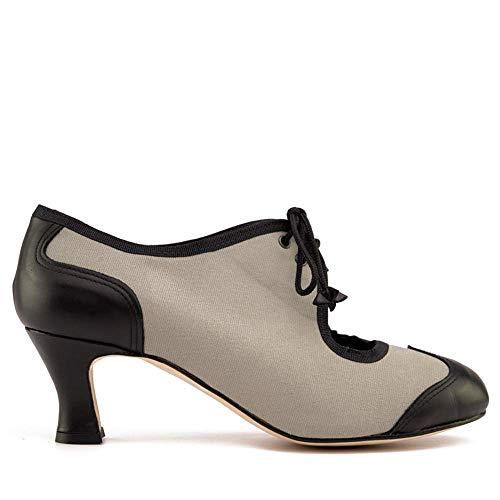 Manuel Reina - Zapatos de Swing de Mujer New Orleans - Bailar Swing, Tango, Jazz - Tacón de 5 cm (41 EU)