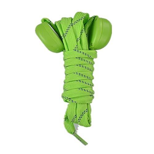 XGT Correa de zapato Led Cordones Luminosos Nylon Luminosos Zapatos Cuerda Cordones Fluorescentes,Verde