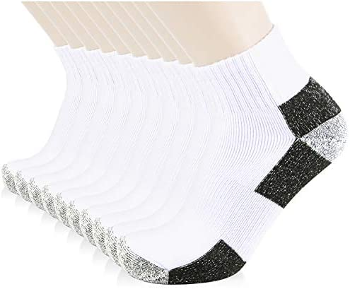 JOURNOW Men s Cotton Moisture Wicking Extra Heavy Cushion Sport Hiking Working Low Cut Socks product image