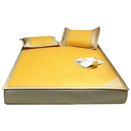 Liuyu · Plus épais siège de rotin de siège trois ensembles de lit de 1.8m d'été 1.5 mètres tapis de pli de soie de glace sûr et aucun glitch, approprié à tous les âges (taille : 150 * 195cm)