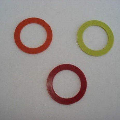IRISO Collerettes, Couleur Orange, Lot de 10