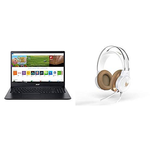 Acer Aspire 1 A115-31-C2Y3, 15.6' Full HD Display, Intel Celeron N4020, 4GB DDR4, 64GB eMMC with Predator Galea 300 White Gaming Headset