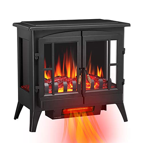 Antratic Star 3D Infrared Electric Fireplace Stove, Freestanding Fireplace...