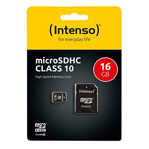 Carte Micro Sd 16 Go Classe 10 Intenso avec Adaptateur