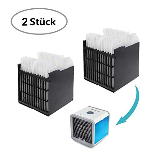 Telisii Air Ersatzfilter, Filter Ersatz, Cooler Filter, Mini Luftkühler Ventilator Air Mini Cooler Mobil Klimageräte Ersatzteile 2 Stück (11.4X11.1X11.9CM)