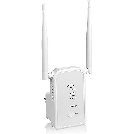 Migii Repetidor de WiFi 300Mbps en 2.4GHz WiFi Extensor Amplificador Largo Alcance Modo Punto de Acceso/Repeater/Router con on 2 Antenas Externo, ...