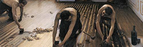 1art1 Gustave Caillebotte - Die Parkettschleifer, 1875 Poster Kunstdruck 91 x 30 cm