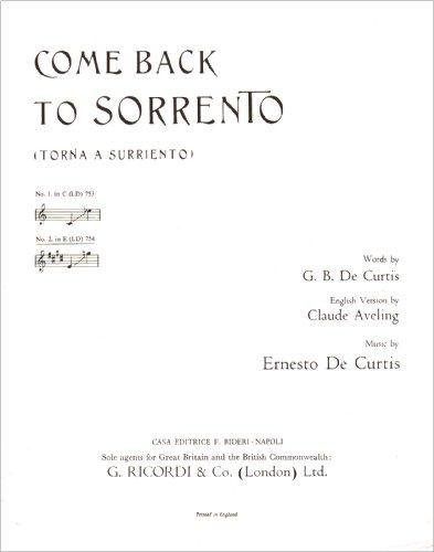 Come Back To Sorrento Eng-Ital Song E