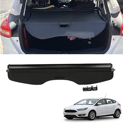 CMHZJ Retrattile Auto Bagagli Protezione Coperchio per Ford Focus Hatchback 2011-2018, Nero Portabagagli Posteriore Tronco Privacy Cappelliera, Auto Accessori Interni