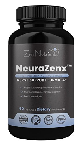NeuraZenX [Neuropathy Support & Nerve Pain Relief Formula] - #1 Most Comprehensive High Potency Formula. Ideal...